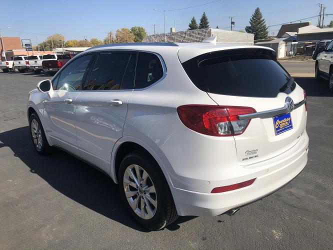 2017 WHITE /Black Buick Envision Essense AWD (LRBFXDSA1HD) with an 2.5L L4 DOHC 24V engine, 6A transmission, located at 116 5th Avenue South, Lewistown, MT, 59457, 47.063877, -109.427879 - Photo #0