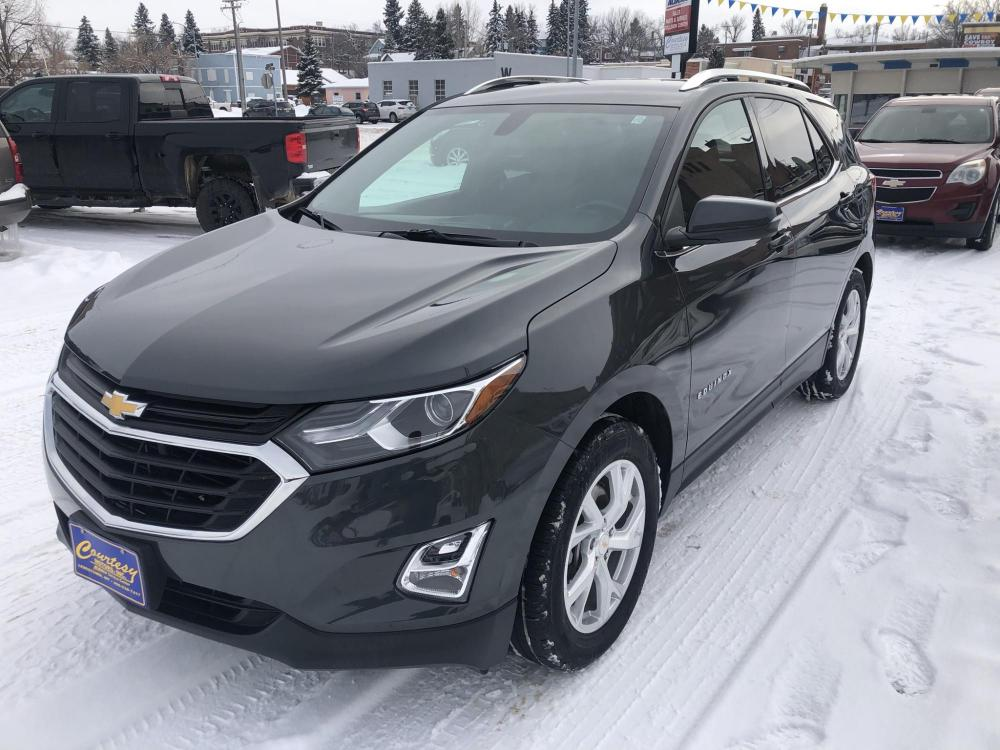 2018 Charcoal Chevrolet Equinox LT AWD (3GNAXTEXXJS) with an 2.0L L4 DOHC 16V TURBO engine, 6A transmission, located at 116 5th Avenue South, Lewistown, MT, 59457, 47.063877, -109.427879 - Photo #0